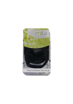 Snag Free Elastic Thin 28pk Black